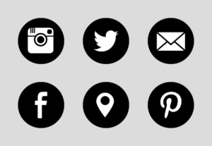 how to show social media icons on google business account
